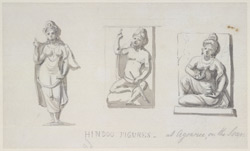 Three figures from Agori (U.P.). 12 and 13 January 1790